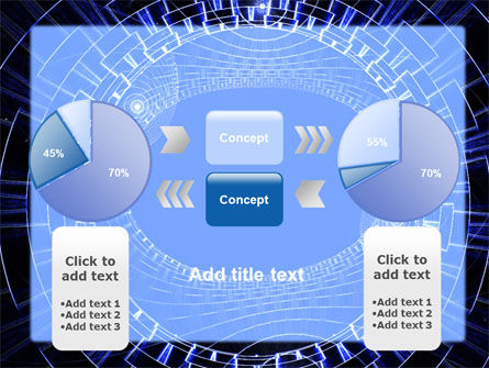 Fantasy Blue Design PowerPoint Template Slide 11