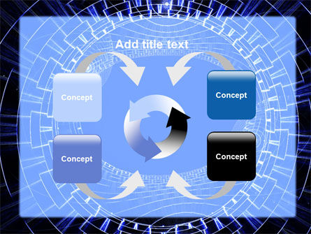 Fantasy Blue Design PowerPoint Template Slide 6