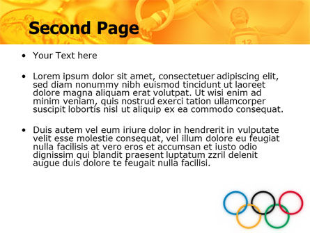 Olympic Games Rings PowerPoint Template, Slide 2, 06569, Sports — PoweredTemplate.com