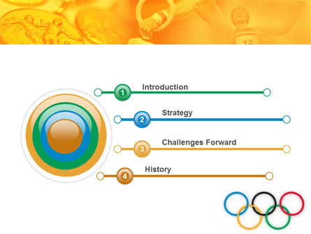 Olympic Games Rings PowerPoint Template, Slide 3, 06569, Sports — PoweredTemplate.com