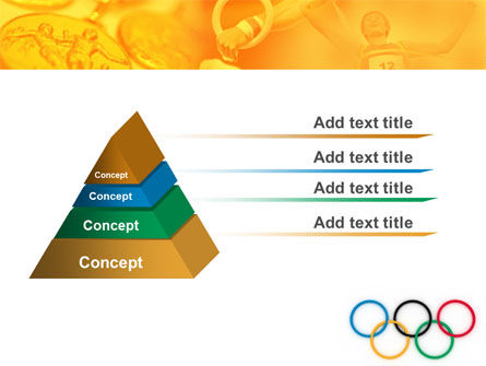 Olympic Games Rings PowerPoint Template, Slide 4, 06569, Sports — PoweredTemplate.com