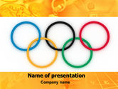 Sports: Olympic Games Rings PowerPoint Template #06569