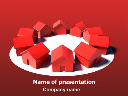 Construction: Buurt PowerPoint Template #06570