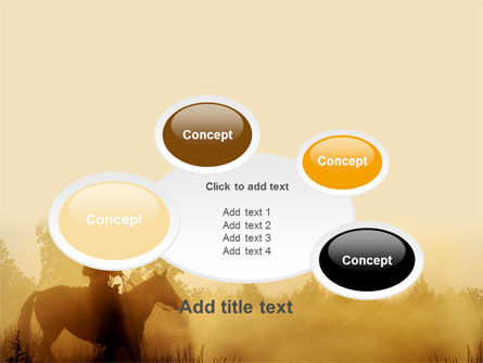 Cowboy Rider PowerPoint Template Slide 16