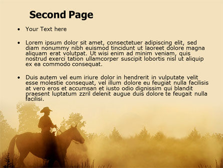 Cowboy Rider PowerPoint Template, Slide 2, 06571, America — PoweredTemplate.com