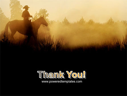 Cowboy Rider PowerPoint Template Slide 20
