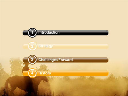 Cowboy Rider PowerPoint Template, Slide 3, 06571, America — PoweredTemplate.com