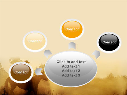 Cowboy Rider PowerPoint Template Slide 7