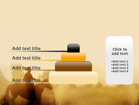 Cowboy Rider PowerPoint Template Slide 8