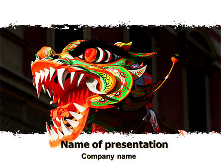 Holiday/Special Occasion: Carnival Dragon PowerPoint Template #06572