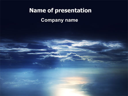 Nature & Environment: Sky over Sea PowerPoint Template #06573