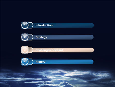 Sky over Sea PowerPoint Template, Slide 3, 06573, Nature & Environment — PoweredTemplate.com
