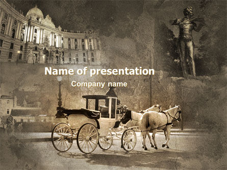 Vienna and Strauss PowerPoint Template, 06574, Art & Entertainment — PoweredTemplate.com