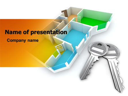 Apartment Keys PowerPoint Template, 06576, Careers/Industry — PoweredTemplate.com
