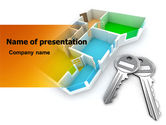 Careers/Industry: Apartment Keys PowerPoint Template #06576