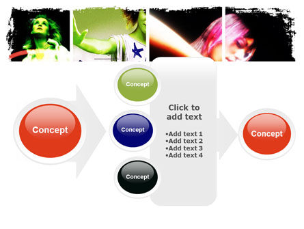 Neon Girl PowerPoint Template Slide 17