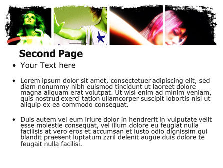 Neon Girl PowerPoint Template Slide 2