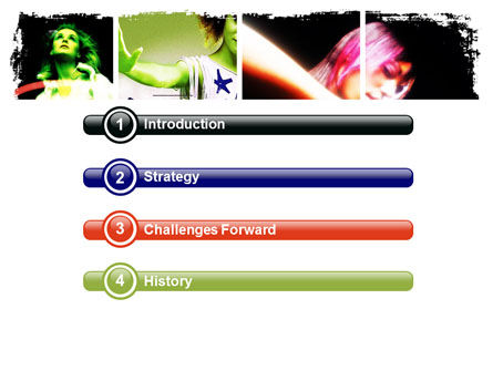 Neon Girl PowerPoint Template Slide 3