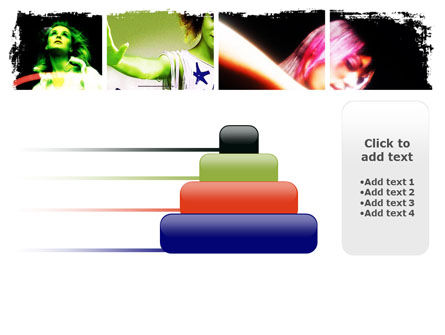 Neon Girl PowerPoint Template Slide 8