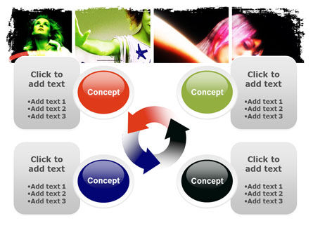 Neon Girl PowerPoint Template Slide 9