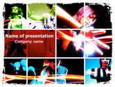Art & Entertainment: Neon Girl PowerPoint Template #06577