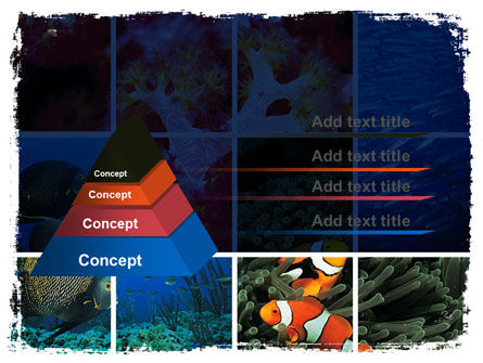 Sea Life PowerPoint Template, Slide 4, 06578, Nature & Environment — PoweredTemplate.com