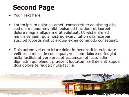 Modern Cottage PowerPoint Template, Slide 2, 06579, Construction — PoweredTemplate.com