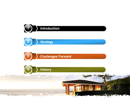 Modern Cottage PowerPoint Template, Slide 3, 06579, Construction — PoweredTemplate.com