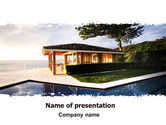 Construction: Modern Cottage PowerPoint Template #06579