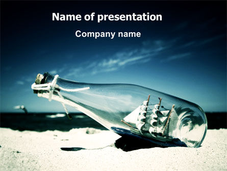 Cars and Transportation: Ship In The Bottle PowerPoint Template #06581