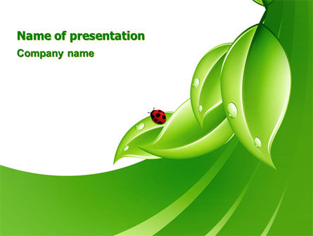 Nature & Environment: Ladybird PowerPoint Template #06582