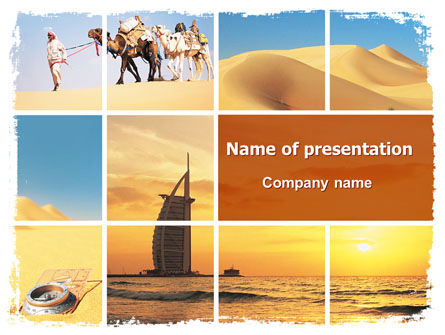Nature & Environment: Arab Emirates PowerPoint Template #06583