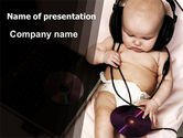 People: Hi-Tech Baby PowerPoint Template #06585