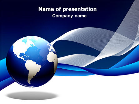 Midnight Blue Globe PowerPoint Template, 06588, Global — PoweredTemplate.com