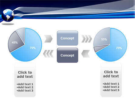 Midnight Blue Globe PowerPoint Template Slide 11