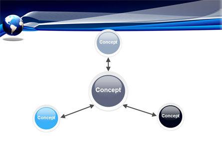 Midnight Blue Globe PowerPoint Template Slide 14