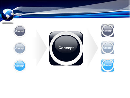 Midnight Blue Globe PowerPoint Template Slide 17