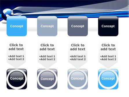 Midnight Blue Globe PowerPoint Template Slide 18