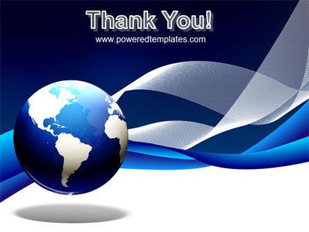 Midnight Blue Globe PowerPoint Template Slide 20