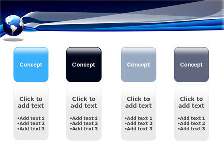 Midnight Blue Globe PowerPoint Template Slide 5
