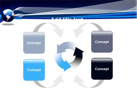 Midnight Blue Globe PowerPoint Template Slide 6