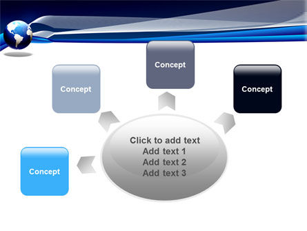 Midnight Blue Globe PowerPoint Template Slide 7
