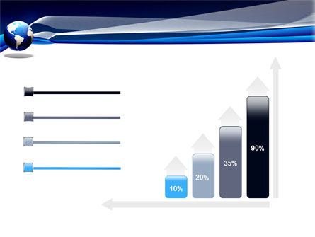 Midnight Blue Globe PowerPoint Template Slide 8