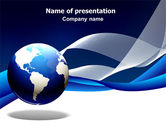 Global: Midnight Blue Globe PowerPoint Template #06588