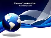 Global: Templat PowerPoint Midnight Blue Globe #06588