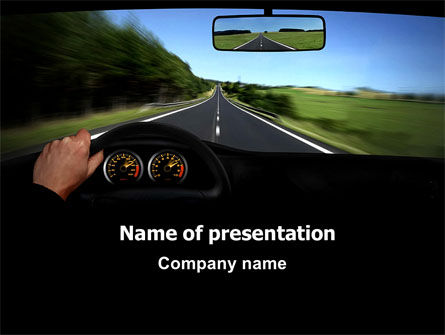 Cars and Transportation: High Speed Driving PowerPoint Template #06591