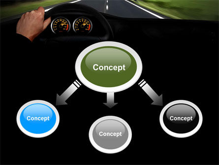 High Speed Driving PowerPoint Template, Slide 4, 06591, Cars and Transportation — PoweredTemplate.com