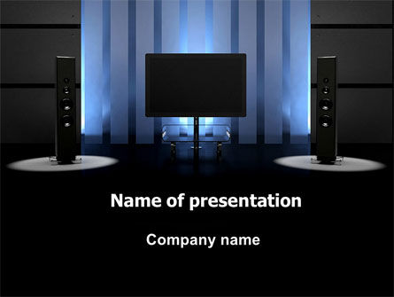 Art & Entertainment: Plantilla de PowerPoint - cine en casa #06592