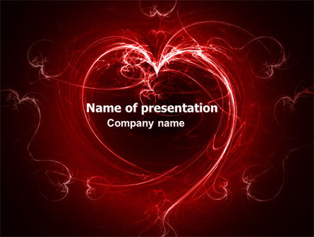 Holiday/Special Occasion: Abstract Heart PowerPoint Template #06593