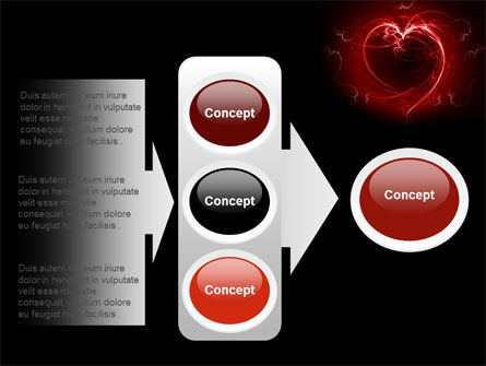Abstract Heart PowerPoint Template Slide 11